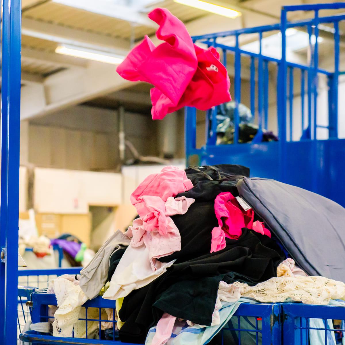 textile recyclé et réutilisé