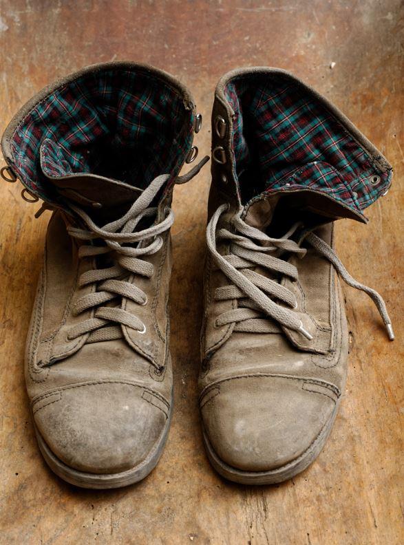 recyclage et collecte de chaussures